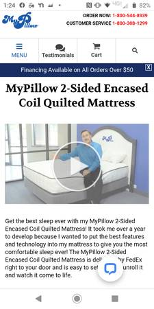 Brand new mypillow twin xl 2-sided mattress - furniture - by owner -...