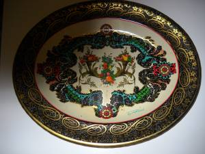 VINTAGE DAHER WARE DECORATED OVAL TRAY (wilson), used for sale