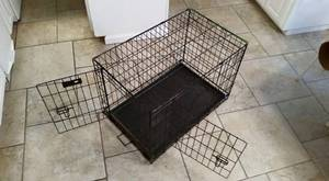 **Like New** Large Double Door Dog Kennel Crate, Cage (Lubbock) for sale