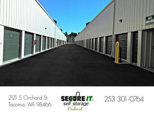 Secure It Self Storage *10X10 & 10X15* Avail NOW!! (Tacoma, Fircrest, UP)