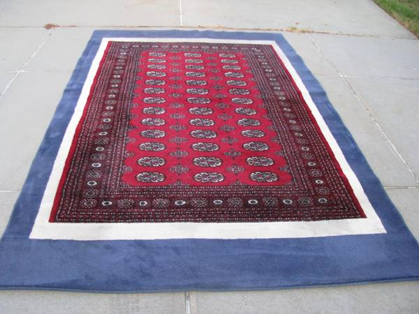 Wool thick pile area rug with under pad -