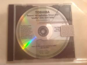 Used, Toshiba Recovery Disc Satellite A100/A105 (Lowell,in) for sale