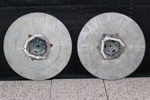 "Lot of 2 - 15"" Round Rotary Walk Behind Floor Scrubber Discs - Used (Gloversville, NY) for sale"
