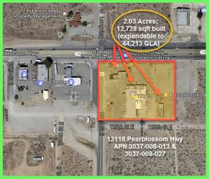 2 acres / 13,000 sqft built office/retail -FACES HWY 138 (Paved, CALL) (Antelope Valley / Palmdale Area) 88000ft<sup>2</sup>