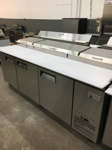 """Used, NSF New Pizza Prep Tables 44""""/67""""/93"""" In Stock Free Inside Delive (Arden Hills) for sale"""