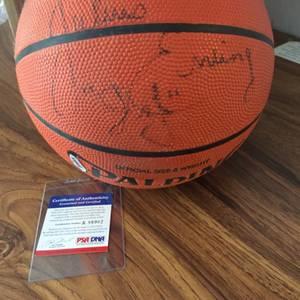 Dr J Julius Erving signed NBA basketball PSA coa (Lake Elsinore) for sale