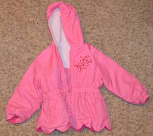 Okie Dokie Girls Size 3 Toddler Fleece Lined Pink Spring/Fall Jacket (Janesville East), used for sale
