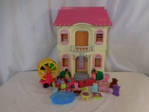 Fisher-Price Large Loving Family Doll House  + Car +  Dolls Furni (lake Elsinore) for sale