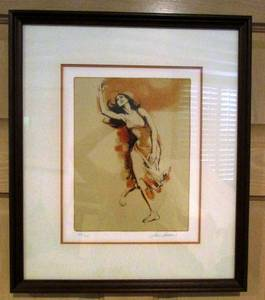 FREE SPIRIT-JIM JONSON LITHOGRAPH FRAMED -COA (Indian Land) for sale