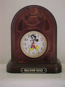 Used, Mickey Mouse Hollywood Mickey Mantel Talking Alarm Clock (Bangor) for sale  Boston