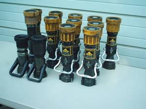 Used, Fire Hose Nozzles AKRON & ELKHART (stanwood) for sale  Seattle