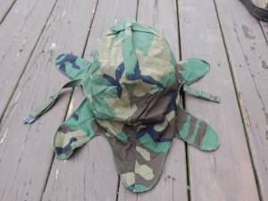 M1 US Helmet Camo Cover Post WWII (Glenmont), used for sale