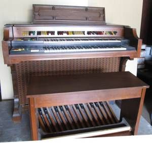 Used, LOWREY HOLIDAY CONSOLE GENIE ORGAN w/BENCH (Saugerties) for sale