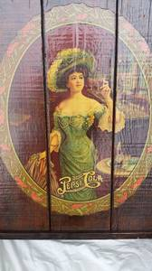 Pepsi Cola  Wood Wall Plaque Sign Gibson Girl Victorian Lady (Tacoma) for sale