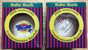 NY Yankees Babe Ruth 100 anniversary commemorative baseballs with coa (san jose south) for sale