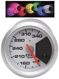 New LED Lighted Oil Pressure Gauge 2in for sale