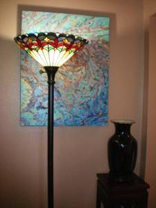 Used, Huge Qianlong period Chinese FLAMBE porcelain floor vase 36 cm tall! (Orange) for sale