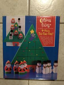 Christmas Follies 9 piece Tic-Tac-Toe Game Decoration (Rootstown) for sale