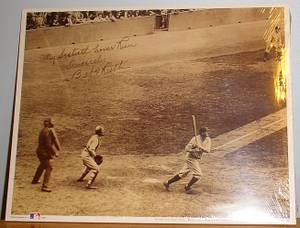 BABE RUTH 60TH Home Run Reprint Signed Photo Erv, used for sale