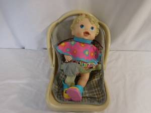 Baby Alive All Gone  Interactive Doll 2009 with baby Carrier Works Bab (lake elsinore), used for sale