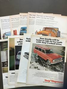 Vintage 60s Truck Ads - Intl Harvester/Kaiser Jeep/White (16) (Fletcher) for sale