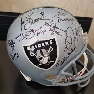 OAKLAND RAIDERS Hall of Fame signed F/S Helmet- JSA (san jose west) for sale