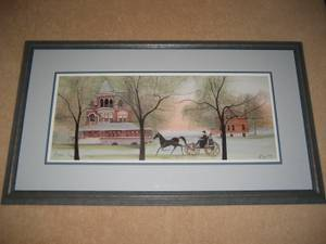 'Sieberling Mansion Revisited' by P. Buckley Moss (#619/1000) Signed (Shakopee, Bloomington) for sale