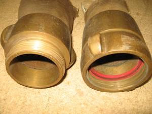 Vintage Brass Fire Hose Ends (North Berwick) for sale