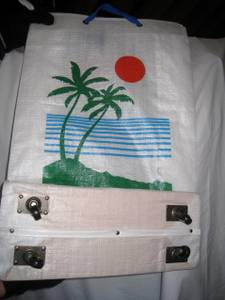 Large Rolling Travel Bag with Hawaiian Sunset on Casters, Folds (Berlin, MA) for sale