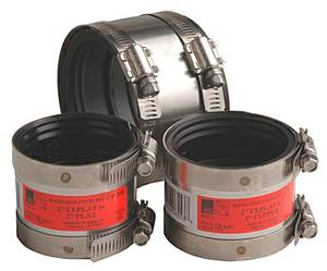LOT OF NEW (12) BAND SEAL COUPLINGS K150WD MISSION RUBBER pipe fitting (west burbs), used for sale