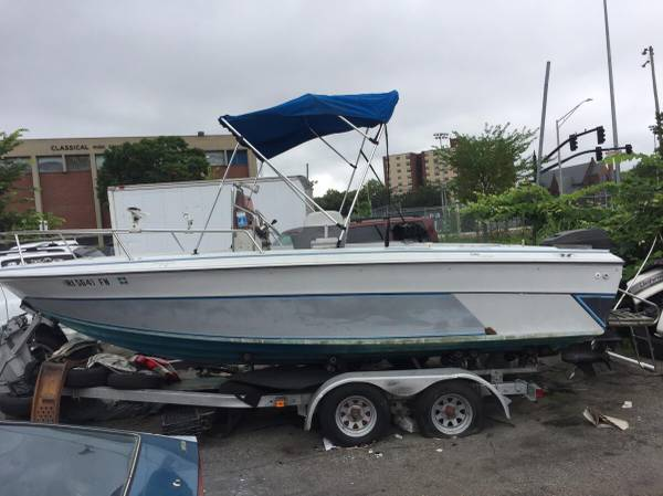 1988 20 foot center console boat & trailer - boats - by owner -...